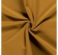 Baumwolljersey angeraut ockergelb 155 cm breit