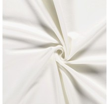 Baumwolljersey angeraut wollweiss 155 cm breit