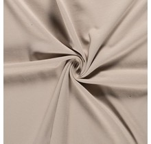 Baumwolljersey angeraut beige 155 cm breit