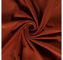 Baumwolljersey angeraut rostrot 155 cm breit