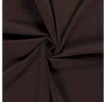 Baumwolljersey angeraut dunkelbraun 155 cm breit