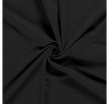 Baumwolljersey angeraut schwarz 155 cm breit