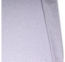 Baumwolljersey angeraut meliert hellgrau 155 cm breit