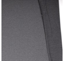 Baumwolljersey angeraut meliert mittelgrau 155 cm breit