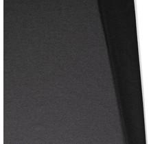 Baumwolljersey angeraut meliert dunkelgrau 155 cm breit