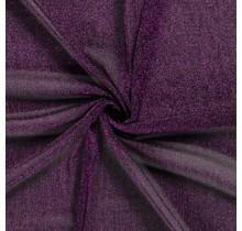 Jersey Lamettaglitzer aubergine 110 cm breit