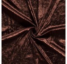 Pannesamt dunkelbraun 147 cm breit
