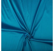 Baumwollsatin Stretch Premium aquablau 145 cm breit