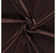 Futterstoff Charmeuse dunkelbraun 145 cm breit