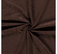 Microvelours Alova Uni dunkelbraun 147 cm breit