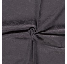 Microvelours Alova Uni dunkelgrau 147 cm breit