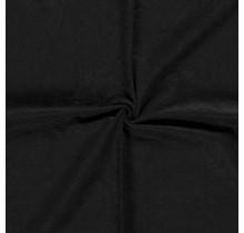 Microvelours Alova Uni schwarz 147 cm breit