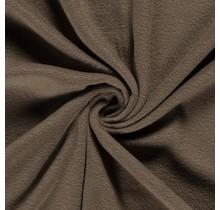 Fleece Antipilling taupe braun 150 cm breit