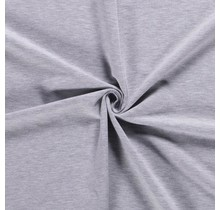 French Terry meliert hellgrau 150 cm breit