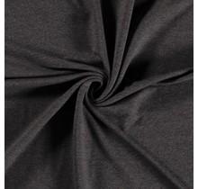 French Terry meliert dunkelgrau 150 cm breit