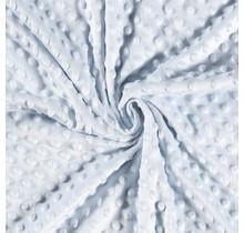 Minky Wellnessfleece Punkte babyblau 150 cm breit