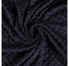 Minky Wellnessfleece Punkte navy 150 cm breit