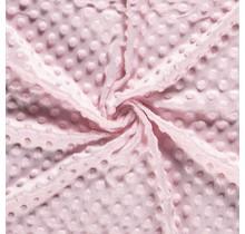 Minky Wellnessfleece Punkte hellrosa 150 cm breit