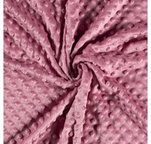 Minky Wellnessfleece Punkte dunkelrosa 150 cm breit