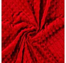 Minky Wellnessfleece Punkte rot 150 cm breit
