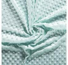 Minky Wellnessfleece Punkte mintgrün 150 cm breit