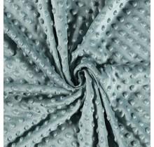 Minky Wellnessfleece Punkte dunkel mintgrün 150 cm breit