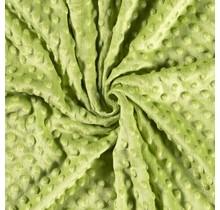 Minky Wellnessfleece Punkte lindgrün 150 cm breit