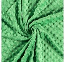 Minky Wellnessfleece Punkte grün 150 cm breit