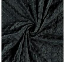 Minky Wellnessfleece Punkte dunkelgrün 150 cm breit