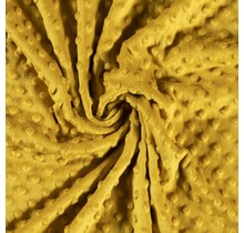Minky Wellnessfleece Punkte ockergelb 150 cm breit