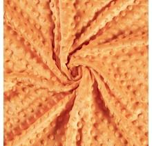 Minky Wellnessfleece Punkte orange 150 cm breit