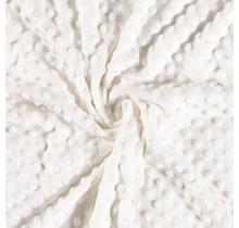 Minky Wellnessfleece Punkte wollweiss 150 cm breit
