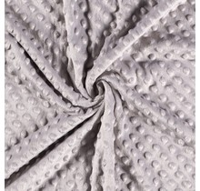 Minky Wellnessfleece Punkte beige 150 cm breit