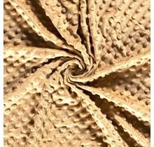 Minky Wellnessfleece Punkte kamel 150 cm breit