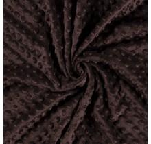 Minky Wellnessfleece Punkte dunkelbraun 150 cm breit
