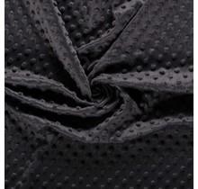 Minky Wellnessfleece Punkte dunkelgrau 150 cm breit