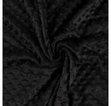 Minky Wellnessfleece Punkte schwarz 150 cm breit