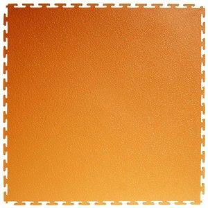 PVC kliktegel | Motief: Hamerslag (textured) - Kleur: Oranje | Dikte 5mm