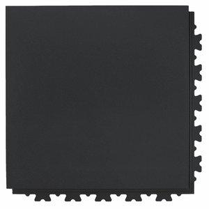 Flexi-Tile PVC kliktegel extra HD (industrieel) - verborgen verbinding - motief: Hamerslag (textured) - kleur: Zwart-Recycled