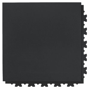 PVC kliktegel extra HD (industrieel) - verborgen verbinding - motief: Hamerslag (textured) - kleur: Zwart-Recycled
