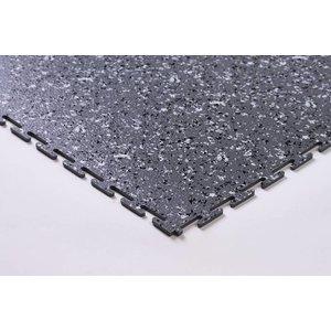 PVC kliktegel | Motief: Hamerslag (textured)| Kleur: Grind-Dark | Dikte 5mm
