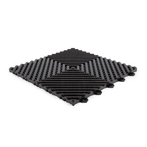 Harde PVC balkon tegels - zwart