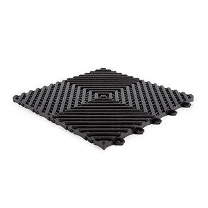 Harde PVC balkontegels - zwart