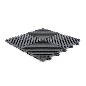 Harde PVC balkon tegels - donkergrijs - 30x30cm