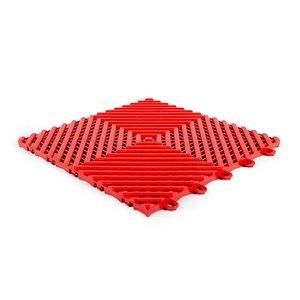 Harde PVC balkon tegels - rood - 30x30cm