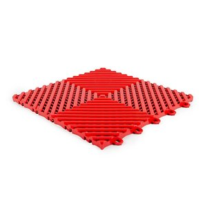 Harde PVC balkontegels - rood - 30x30cm