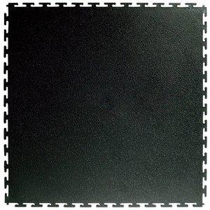 PVC kliktegel | Motief: Hamerslag | Kleur: Zwart | Dikte 4.5mm | Recycled