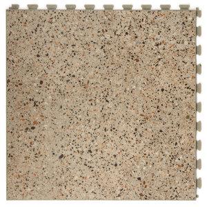 PVC kliktegel |verborgen verbinding - Motief: Design| Kleur: Stone | Dikte 7.7mm