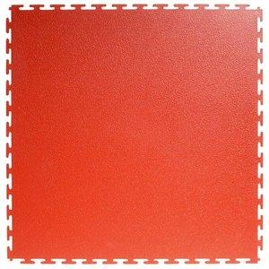 PVC kliktegel  Motief: Hamerslag (textured)   Kleur: Rood   Dikte 4.5mm - AANBIEDING