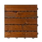 Harde PVC balkon tegels - wood - bruin-30x30cm
